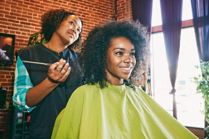 Hair making salon