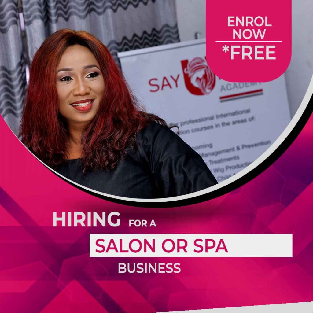 Hiring for spa